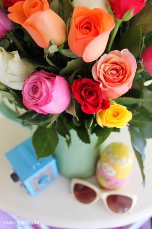 roses bouquet of flowers vintage caravan_-6