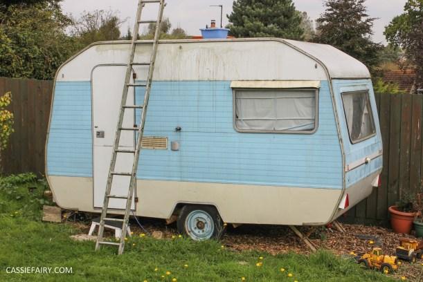 vintage caravan spring cleaning_