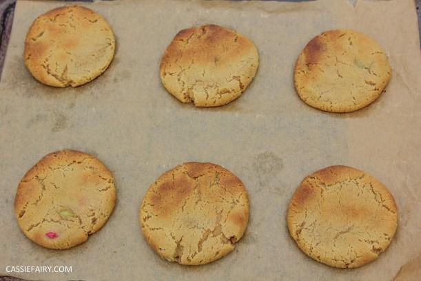 cassiefairy pieday friday blog recipe chocolate smarties cookies diy-4