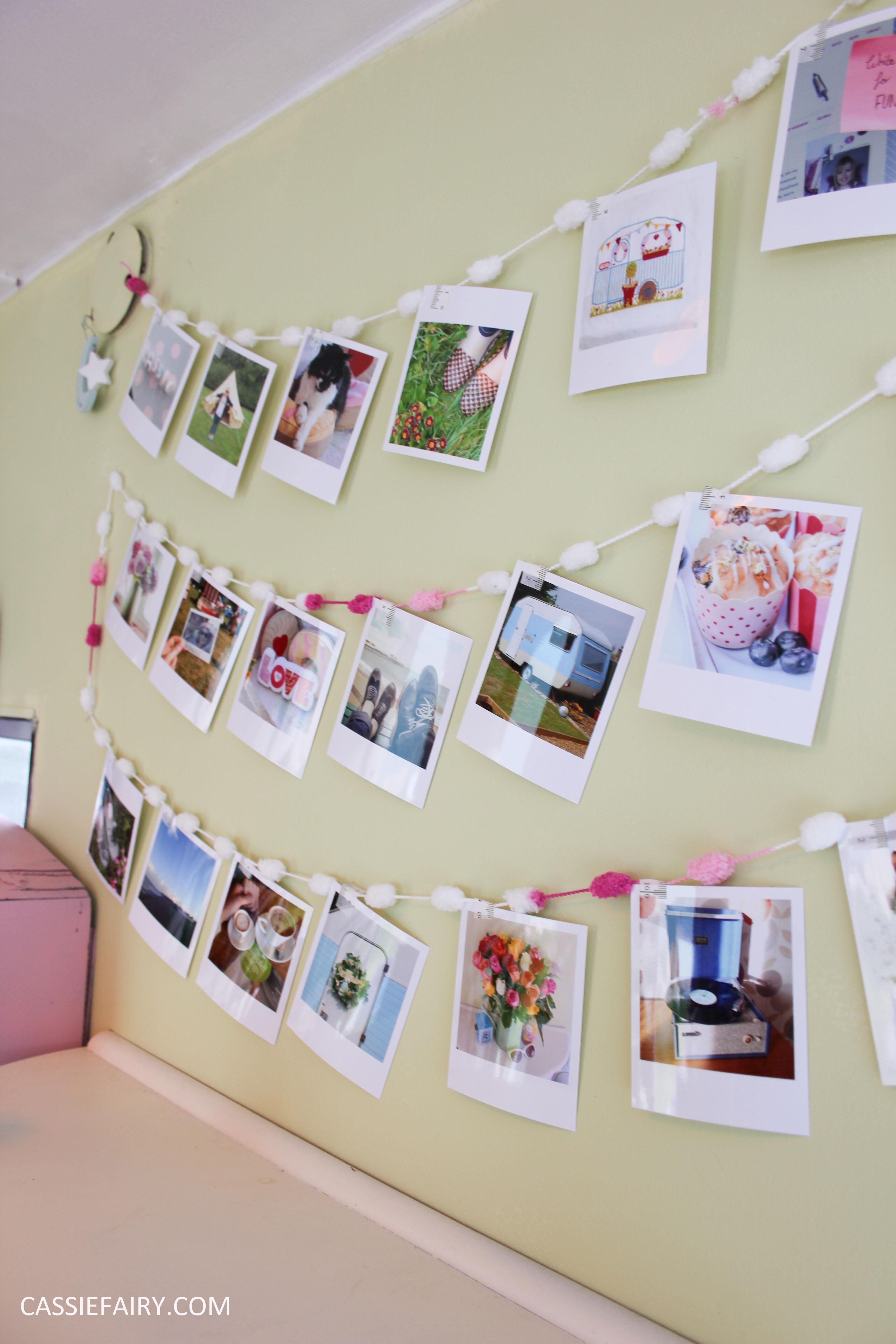 diy polariod photo wall display decoration using polabox-20