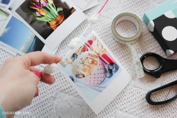 diy polariod photo wall display decoration using polabox-8