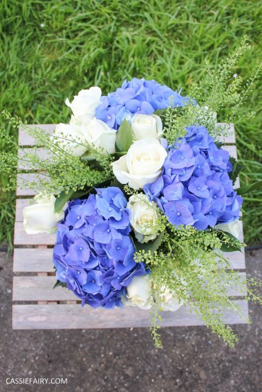 flower bouquet inspiration blue hydrangea and rose_-12