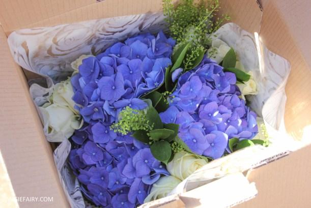 flower bouquet inspiration blue hydrangea and rose_-7