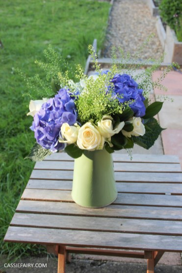 flower bouquet inspiration blue hydrangea and rose_-8