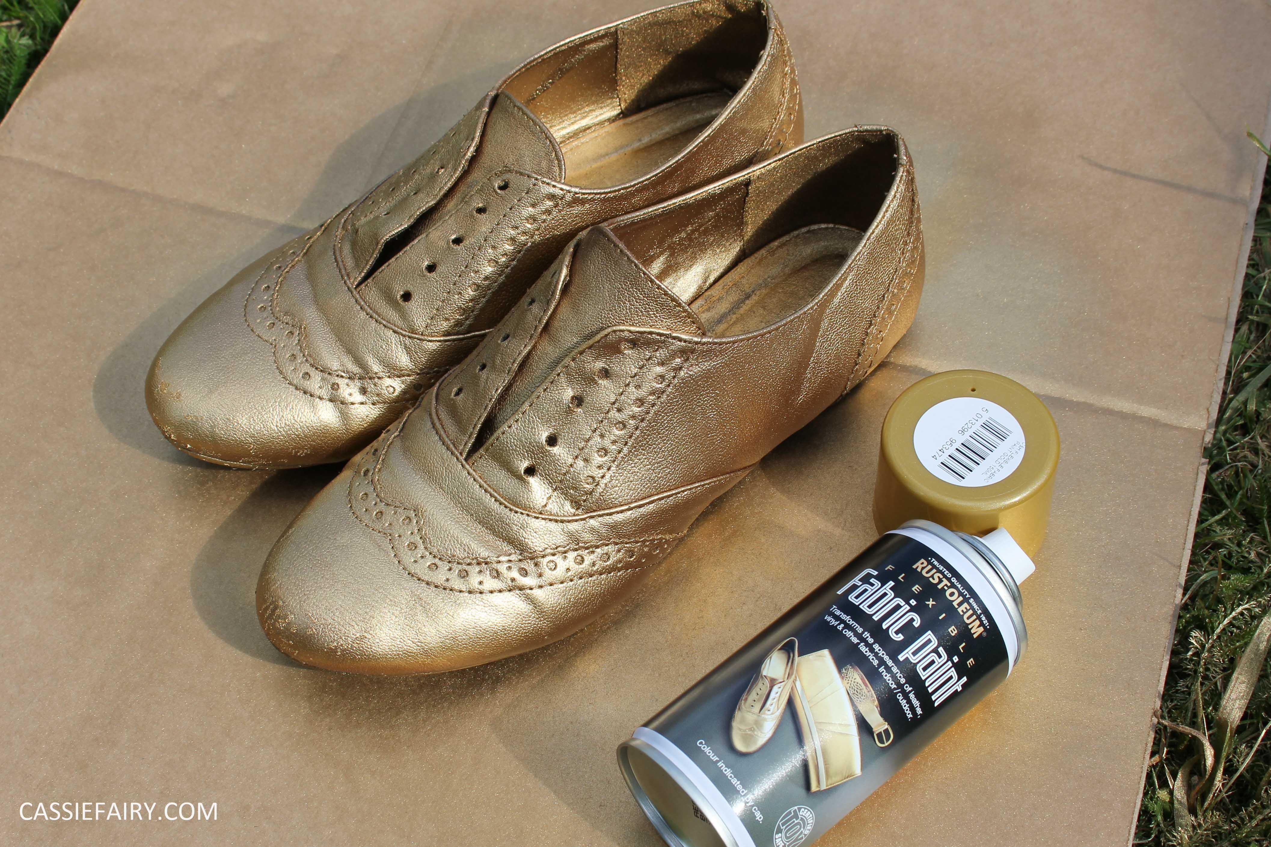 DIY shoe makeover using spray paint