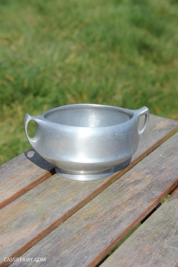 DIY polishing midcentury modern silvertea set picquot ware teapot-5