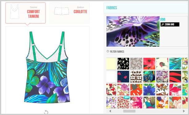 Surania design your own swimwear fabric choices