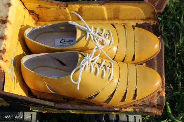 his and hers shoes mustard and rust from clarks summer sale 2015-12