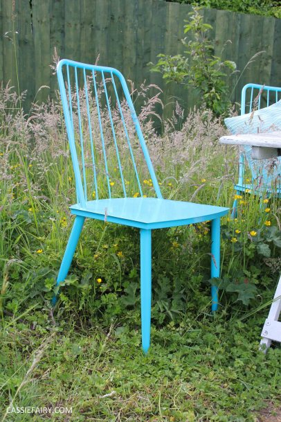 summer party - garden table and chairs in wild flower meadow-2