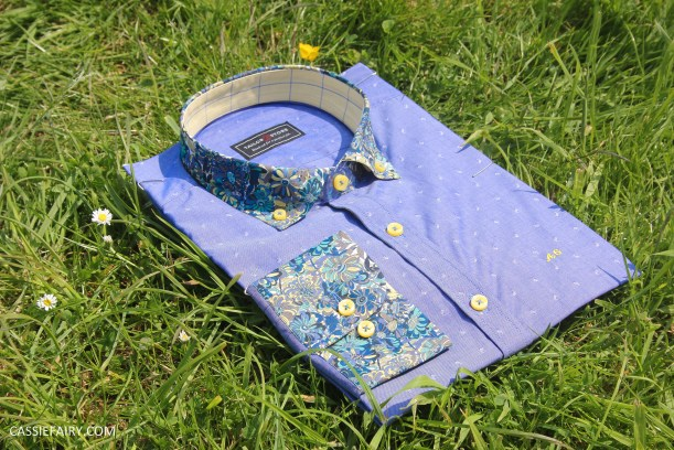 tailor store custom made shirt design blue floral_-2