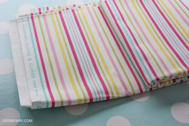 clarke and clarke candy striped fabric_