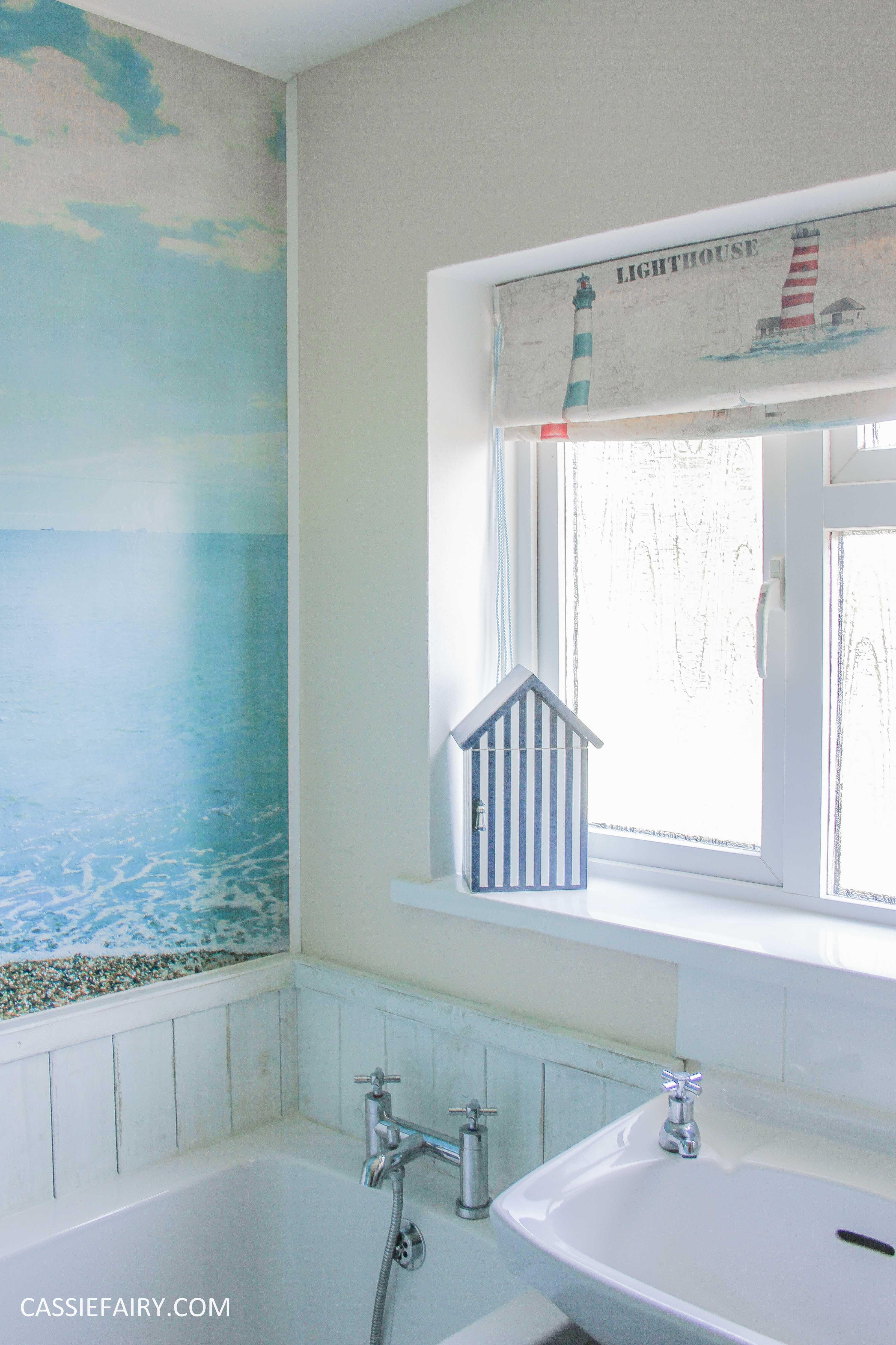 diy beach hut bathroom makeover project - low budget renovation-14
