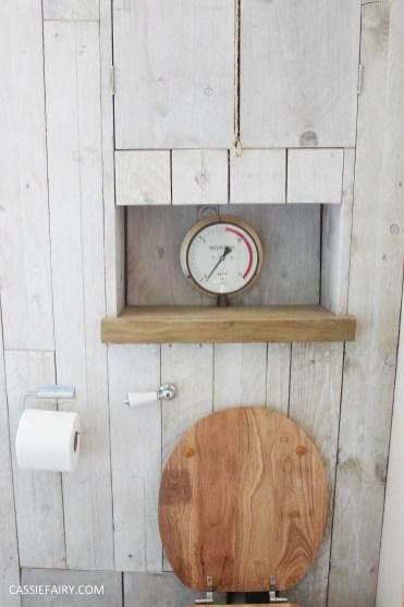 diy beach hut bathroom makeover project - low budget renovation