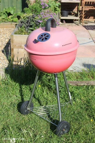 diy spray paint summer bbq barbeque makeover_