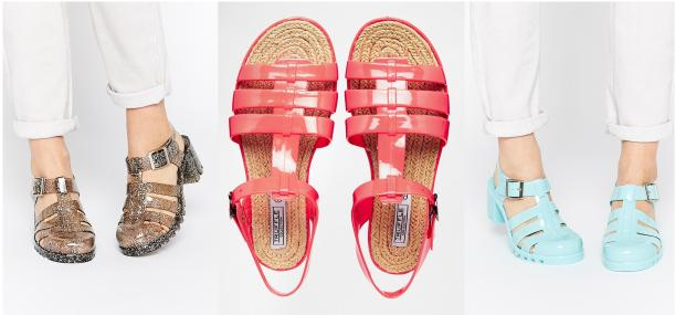 truffle collection jelly shoes summer sale at asos