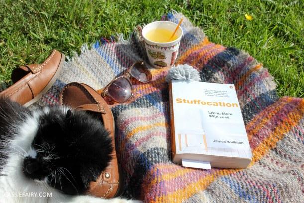 lifestyle inspiration - share serenity reading books cat