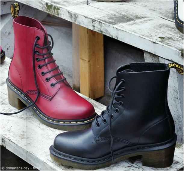 doc martens heeled boots