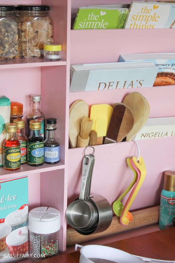 kitchen DIY furniture Makeover project bake station - storage cooking baking tutorial-10