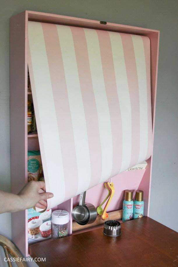 kitchen DIY furniture Makeover project bake station - storage cooking baking tutorial-16