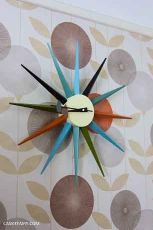 mid century modern interior design starburst clock-6