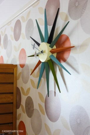 mid century modern interior design starburst clock-9