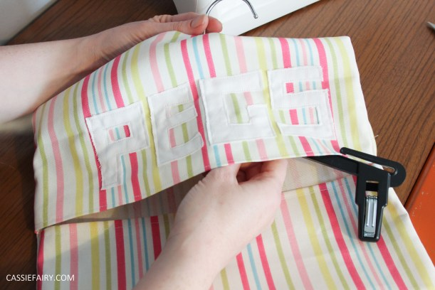 diy kitchen sewing projects peg bag and bag holder-11