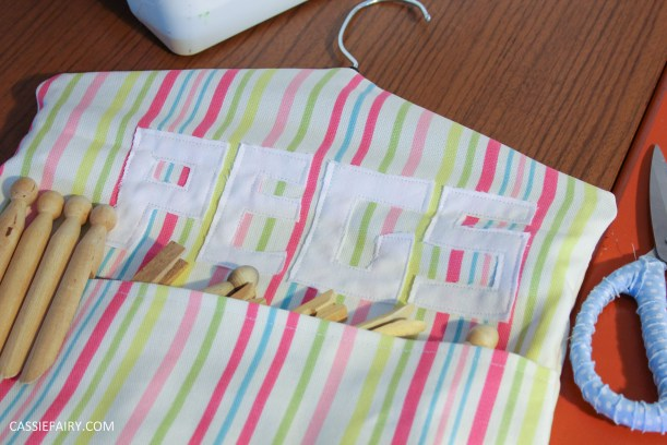 diy kitchen sewing projects peg bag and bag holder-12