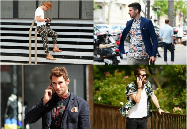 fashion for men - floral patterns