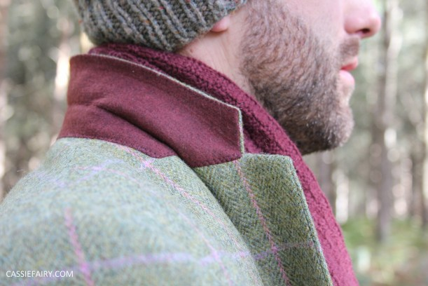 menswear mens fashion styling a tweed jacket layered warm outdoor forest autumn winter-14