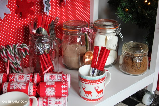 custom made DIY christmas drinks cart project mulled wine hot chocolate spied latte-27