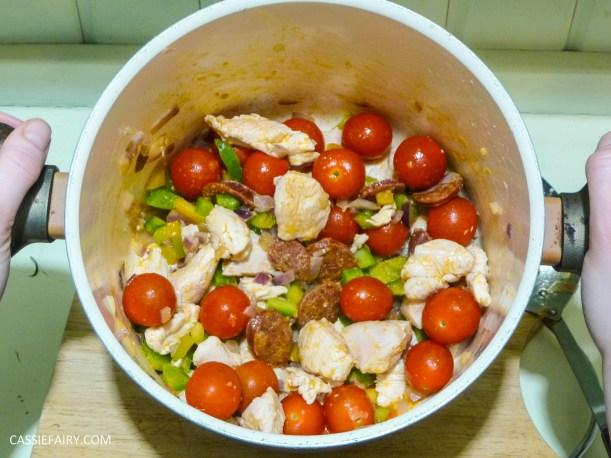pieday friday baked spanish chicken and chorizo risotto recipe-3