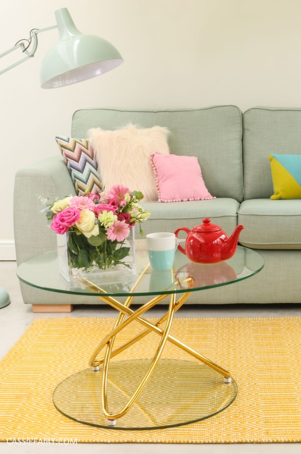 DFS candy colours interior design inspiration for spring summer 2016 coffee table 1