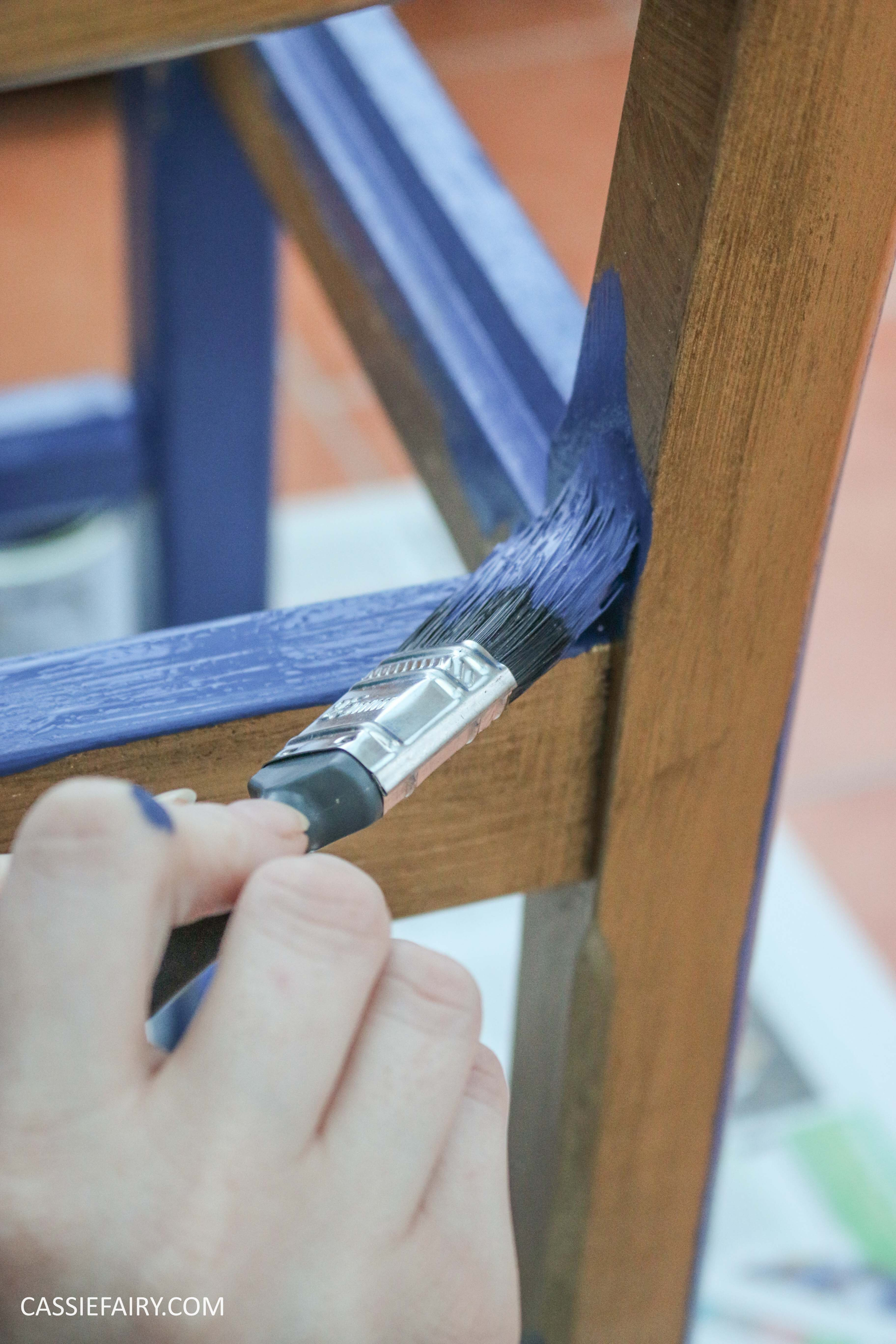 Furniture Makeover Project Rust-Oleum paint retro conservatory chair_-13