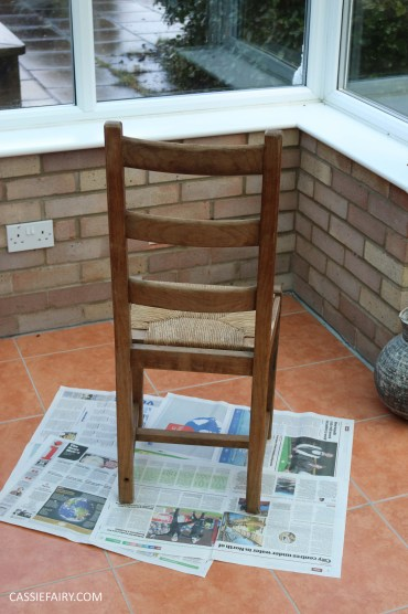 Furniture Makeover Project Rust-Oleum paint retro conservatory chair_-3