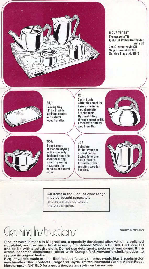 Picquot Ware Cleaning instructions
