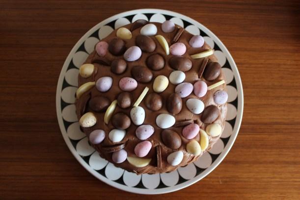 chocolate fudge cake for easter celebration dessert pudding