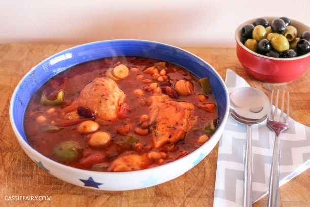 mediterranean italian chicken and bean stew recipe cooking slow cooker casserole