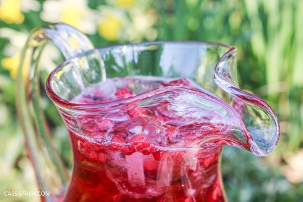 summer fruit punch recipe cranberry raspberry fizz for easter-5