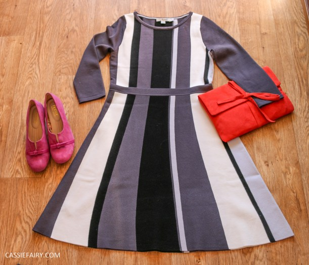 outfit for awards ceremony boden dress clutch bag hotter shoes