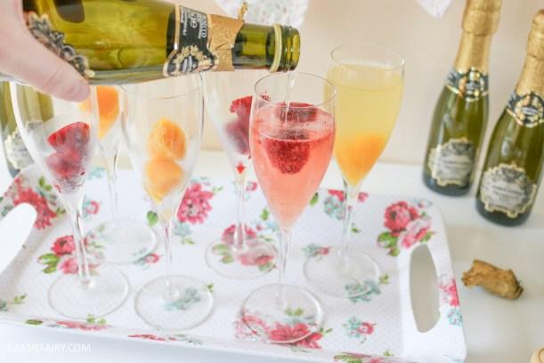 Fruit Cubes for Sparkling Cocktails