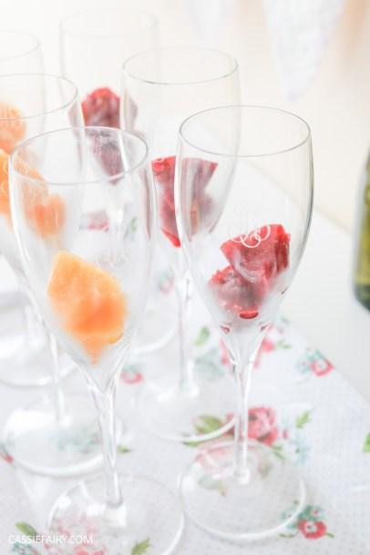 wedding hen party queens birthday celebration idea diy fruit puree ice cubes recipe-34