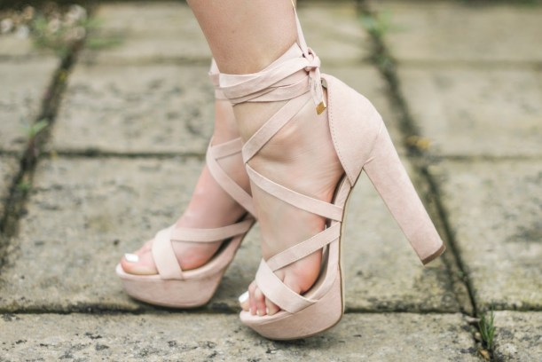 eltoria pink tie up platform shoes river island ukba16