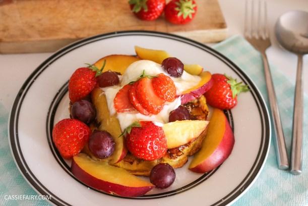 birds eye breakfast waffles eggy bread french toast fruit breakfast brunch recipe-11