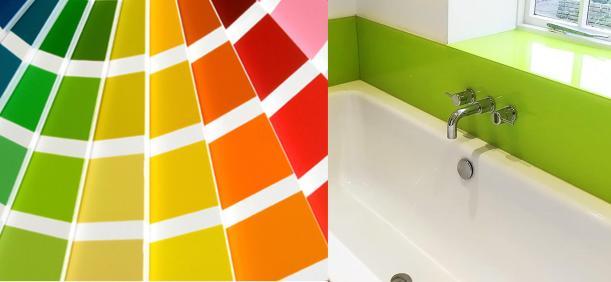 British-Standard-Colour-Chart bathroom green bath splashback