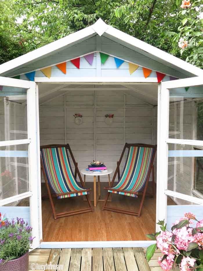 Garden inspiration beach hut sheds for Beach hut interiors