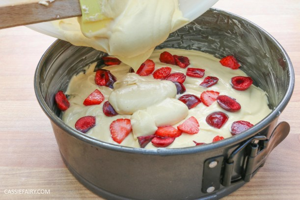 fruit cake cherry strawberry sponge bake baking recipe-2