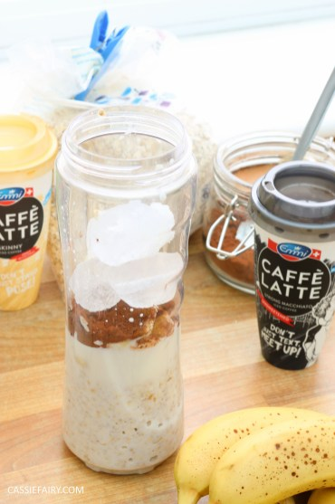 healthy breakfast recipe inspiration friyay smoothie oats coffee latte banana chocolate-6