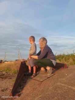 summer holiday sunset beach huts seaside-3