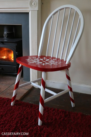 diy-video-youtube-tutorial-christmas-decor-decoration-festive-candy-cane-chair-step-by-step-project-spray-painting-guide-9
