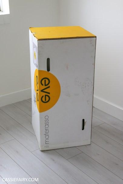 eve memory foam mattress unboxing bed kingsize bedding-1